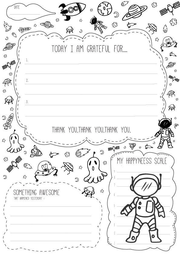daily gratitude journal template